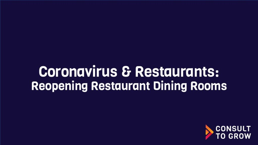 Reopening Restaurant Dining Rooms Feature Image