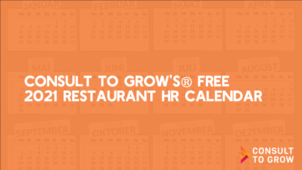 Restaurant HR Calendar Key Image